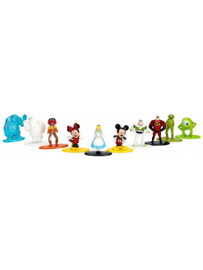 Pack 10 Minifiguras Disney Nano Metalfigs Diecast 4 cm