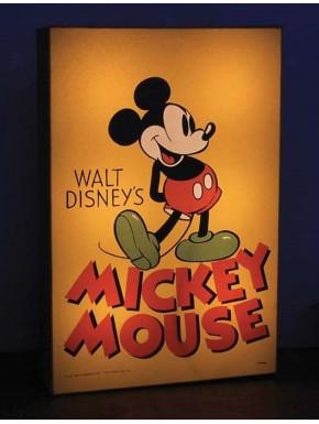 Cuadro Iluminado Mickey Mouse Disney Vintage