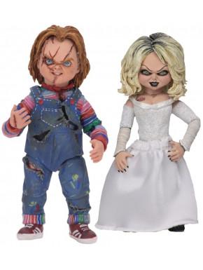 Pack de 2 Figuras Chucky & Tiffany 10 cm
