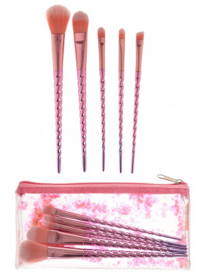 Set de Pinceles de Maquillaje Unicornio Rosita