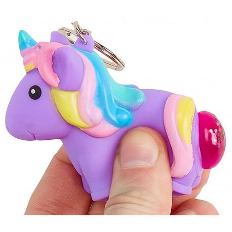 Llavero Unicornio Caca Apretujable