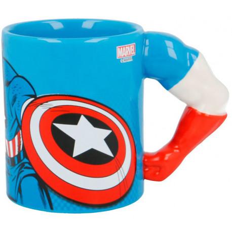 Taza 3D Capitan América Marvel