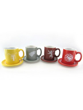 Set 4 mini tazas Juego de Tronos