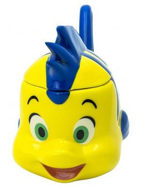 Taza 3D Flounder La Sirenita Disney