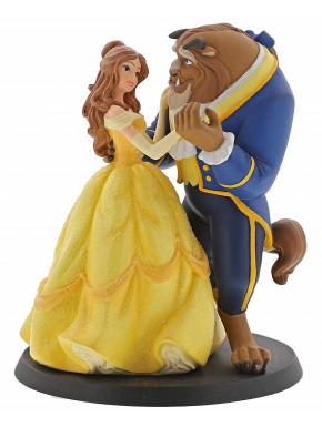 Figura Disney La Bella y la Bestia Dancing Jim Shore 12 cm