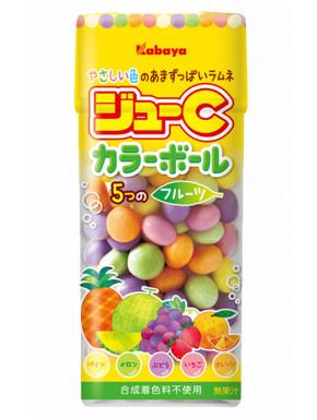 Caramelos de frutas de colores Kabaya Jyu-C 35 gr