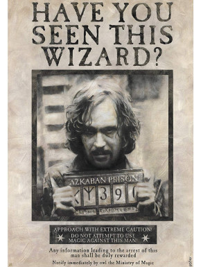 Póster Wanted Sirius Black Harry Potter
