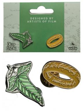 Pin Elfen Leaf & Anillo Único El Señor de los Anillos