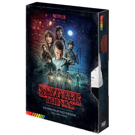 Libreta Premium A5 Stranger Things VHS