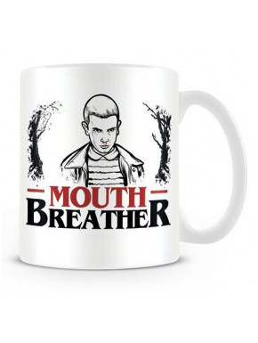 Taza Eleven Mouth Breather Stranger Things