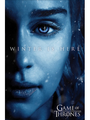 Póster Winter is Coming Daenerys Juego de Tronos