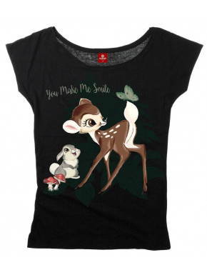 Camiseta Chica Disney Bambi You Make me Smile