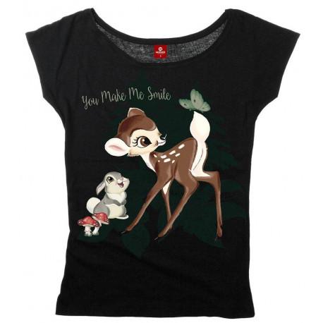 Camiseta Chica Disney Bambi Yoy Make me Smile