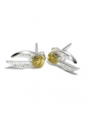 Pendientes Harry Potter golden Snitch Plata de Ley