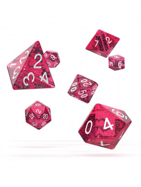 Oakie Doakie Dice Dados RPG-Set Speckled Rosa