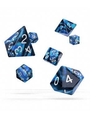 Oakie Doakie Dice Dados RPG-Set Glow in the Dark Arctic