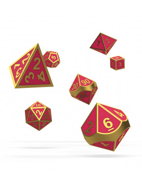 Oakie Doakie Dice Dados RPG-Set Metal Brillan en la Oscuridad Golden Princess