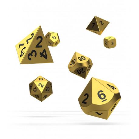 Oakie Doakie Dice Dados RPG-Set Set Metal Dice Aurym