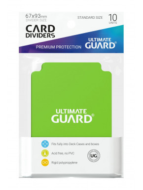 Tarjetas separadoras para cartas tamaño estándar Ultimate Guard Verde 10