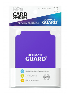 Tarjetas separadoras para cartas tamaño estándar Ultimate Guard Morado 10