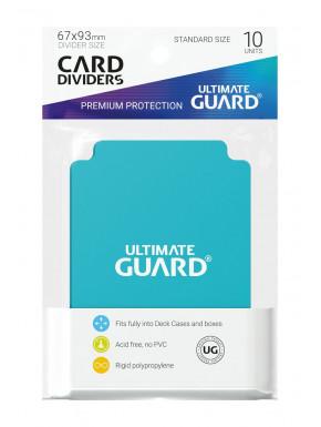 Tarjetas separadoras para cartas tamaño estándar Ultimate Guard Aguamarina 10