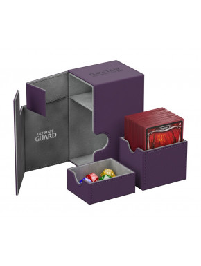 Caja Deluxe Cartas estándar Ultimate Guard 80 Morado