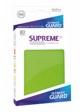80 Fundas cartas estándar Verde Supreme Ultimate Guard