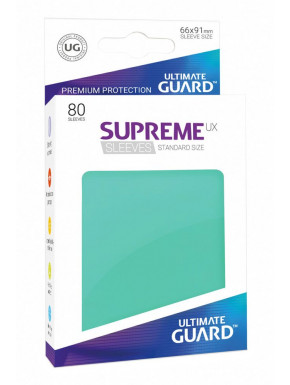 80 Fundas de cartas estándar Turquesa Supreme Ultimate Guard