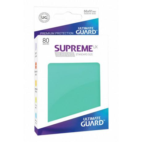 Fundas de cartas tamaño estándar Turquesa Ultimate Guard 80