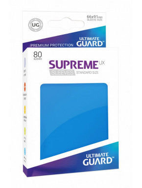80 Fundas cartas estándar Azul Supreme Ultimate Guard