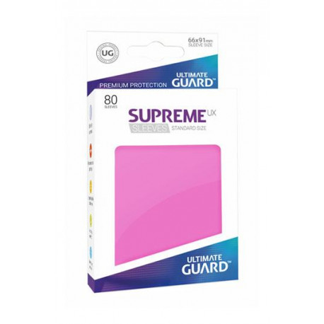 Fundas de cartas tamaño estándar Rosa Ultimate Guard 80