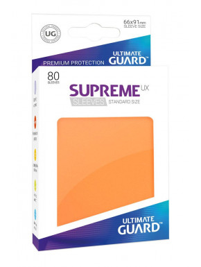 80 Fundas cartas estándar Naranja Supreme Ultimate Guard