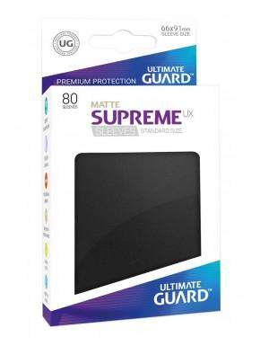 Fundas de cartas tamaño estándar Negro Ultimate Guard 80
