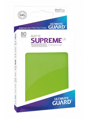 Fundas de cartas tamaño estándar Verde Mate Ultimate Guard