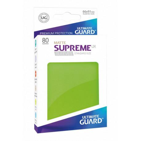 Fundas de cartas tamaño estándar Verde Mate Ultimate Guard
