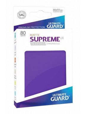 80 Fundas cartas estándar Mate Violeta Supreme Ultimate Guard