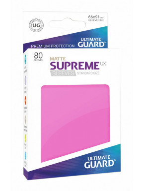 Fundas de cartas tamaño estándar Rosa Mate Ultimate Guard 80