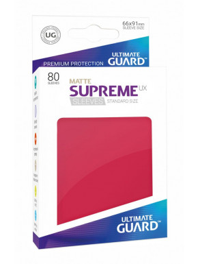 Fundas de cartas tamaño estándar Rojo Mate Ultimate Guard 80