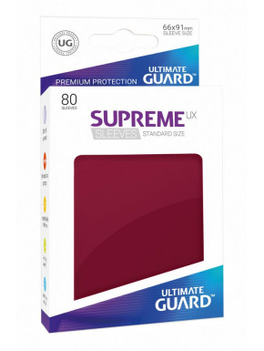 Fundas de cartas tamaño estándar Granate Mate Ultimate Guard 80