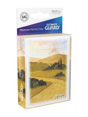 Fundas de cartas tamaño estándar Lands Edición Llanura Ultimate Guard 80