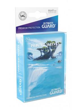 Fundas de cartas tamaño estándar Lands Edición Isla Ultimate Guard 80