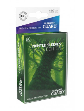 80 Fundas cartas estándar Bosque Lands Edition Ultimate Guard