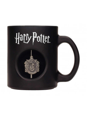Taza Harry Potter Slytherin Emblema giratorio
