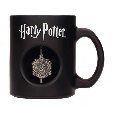 Taza Harry Potter Slytherin Emblema giratorio