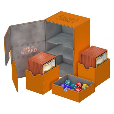 Caja Deluxe Cartas estándar Ultimate Guard 160 Naranja