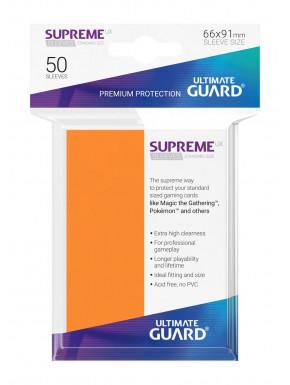 Fundas de cartas tamaño estándar Naranja Ultimate Guard 50