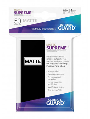 Fundas de cartas tamaño estándar Negro mate Ultimate Guard 50