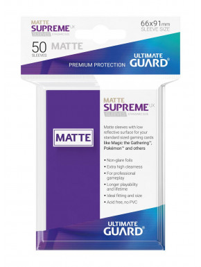 Fundas de cartas tamaño estándar Morado mate Ultimate Guard 50