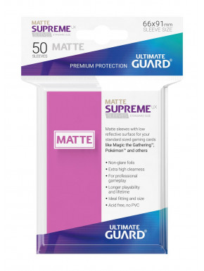 Fundas de cartas tamaño estándar Rosa mate Ultimate Guard 50