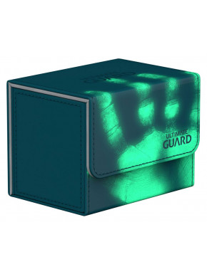 Caja para cartas estándar Verde Azulado Winder & Trade Ultimate Guard 80